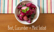 Beet, Cucumber and Mint Salad